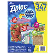 Ziploc Storage Bag Variety Pack, 347 pk.