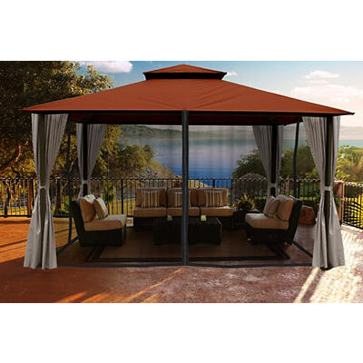 Paragon Outdoor Santa Barbara 11' x 14' Gazebo with Sunbrella Canopy,