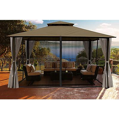 Paragon Outdoor Santa Barbara 11' x 14' Gazebo with Sunbrella Canopy a