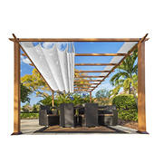 Paragon Outdoor 11' x 16' Pergola - Light Brown/White