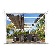 Paragon Outdoor 11' x 16' Pergola - White/Cocoa