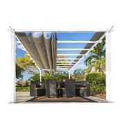 Paragon Outdoor 11' x 16' Pergola - White/Sand