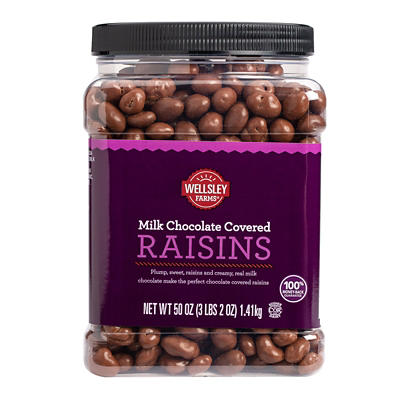 Wellsley Farms Milk Chocolate Covered Raisins, 50 oz.