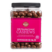 Wellsley Farms Milk Chocolate Covered Cashews, 44 oz.