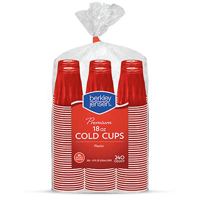Berkley Jensen 18-Oz. Plastic Cups, 240 ct. - Red