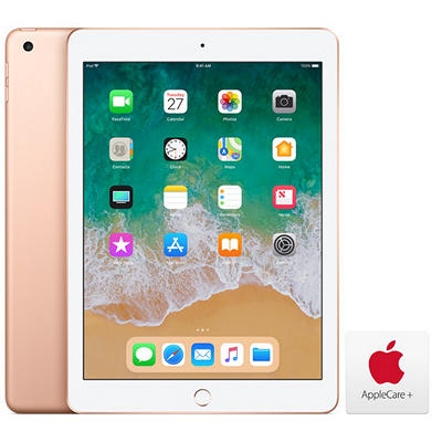 "Apple iPad 9.7"", 32GB - Gold with AppleCare+"