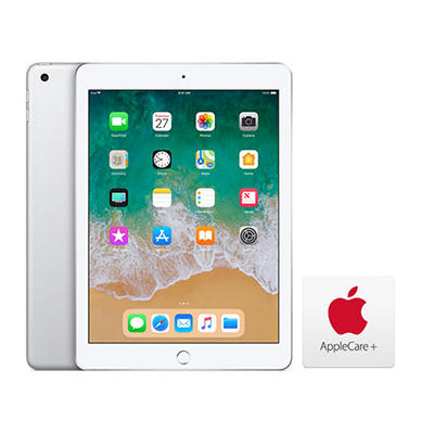 "Apple iPad 9.7"", 128GB - Silver with AppleCare+"