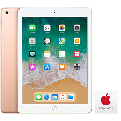 "Apple iPad 9.7"", 128GB - Gold with AppleCare+"