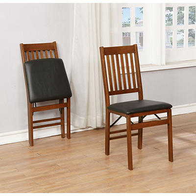 Folding Wood Dining Chair, 2 pk.