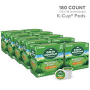 Green Mountain Coffee Roasters Breakfast Blend Decaf Light Roast Coffee Keurig Single-Serve K-Cup Pods, 10 pk./18 ct.