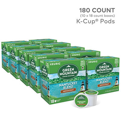 Green Mountain Coffee Roasters Nantucket Blend Medium Roast Coffee Keurig Single-Serve K-Cup Pods, 10 pk./18 ct.