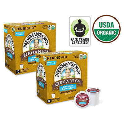 Newman's Own Organics Newman's Special Blend Medium Roast Coffee, Keurig K-Cup Pods, 10 pk./18 ct.