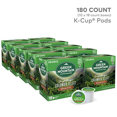 Green Mountain Coffee Roasters Colombia Select Medium Roast Coffee Keurig Single-Serve K-Cup Pods, 10 pk./18 ct.