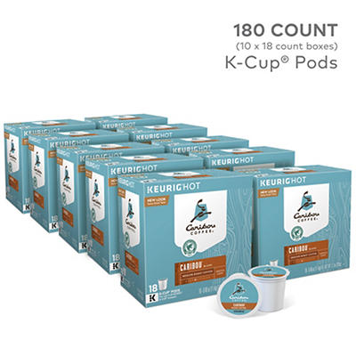 Caribou Coffee Caribou Blend Medium Roast Coffee Keurig Single Serve K-Cup Pods, 10 pk./18 ct.