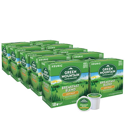 Green Mountain Coffee Roasters Breakfast Blend Light Roast Coffee Keurig Single-Serve K-Cup Pods, 10 pk./18 ct.