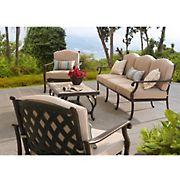 Sunjoy Bar Harbor 4-Pc. Deep-Seating Set - Brown