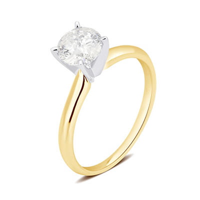 .75 ct. t.w. Round Diamond Solitaire Ring in 14K Yellow Gold
