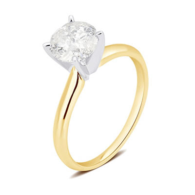 1.00 ct. t.w. Round Diamond Solitaire Ring in 14K Yellow Gold