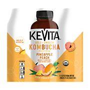 KeVita Pineapple Peach Master Brew Kombucha Non-Alcoholic Drink, 6 pk./15.2 oz.