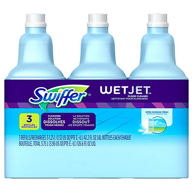 Swiffer WetJet Multi-Purpose Open Window Fresh Scent Floor Cleaner Solution Refill, 3 pk./1.25L