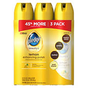 Pledge Lemon Clean Furniture Polish, 3 pk./14.2 oz.