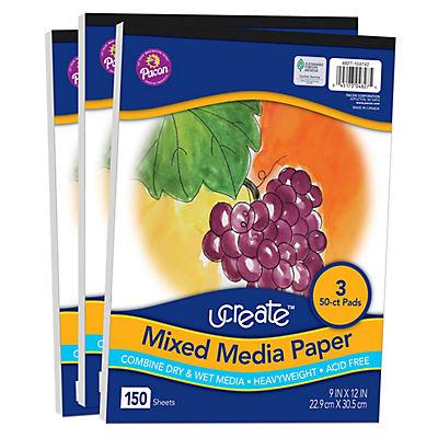 Ucreate Mixed Media Paper, 3 pk.