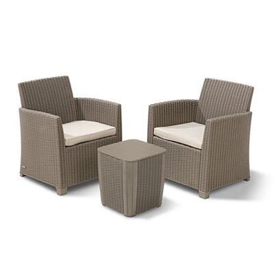 Keter Corona 3-Pc. Balcony Set - Cappuccino