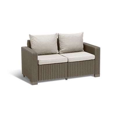Keter California Loveseat - Cappuccino