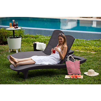 Keter Pacific Chaise Lounges, 2 pk. - Graphite