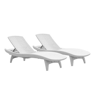 Keter Pacific Chaise Lounges, 2 pk. - White
