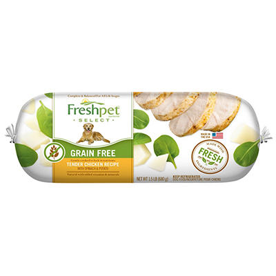 Freshpet Select Grain Free Tender Chicken With Spinach and Potato Reci
