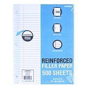 Unison Reinforced Filler Paper, College Ruled, 500 Sheets