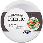 Chinet 20-Oz. Plastic Bowls, 100 ct. - White