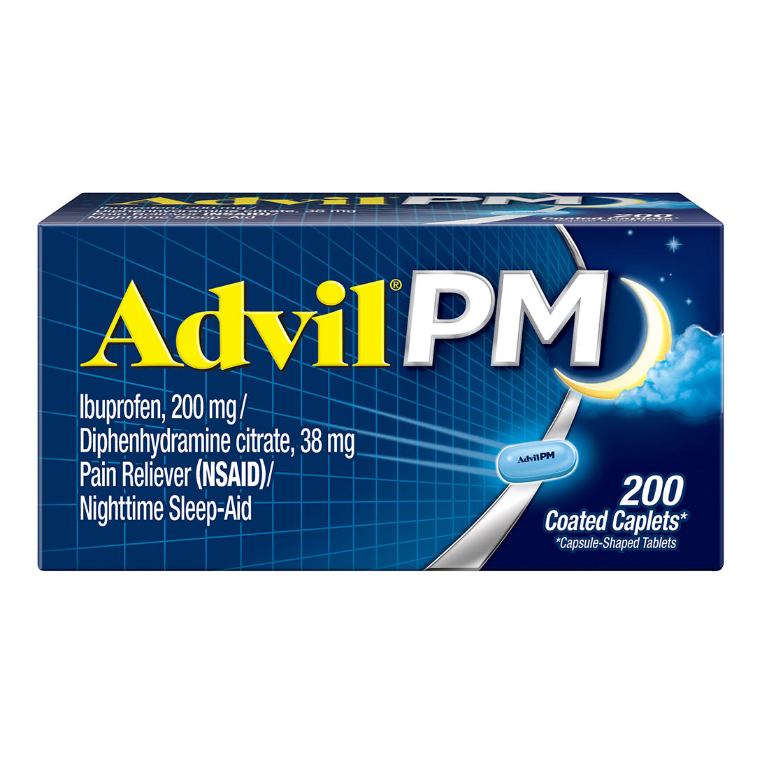 picture relating to Advil Coupons Printable called Advil PM Suffering Reliever, 200 ct.