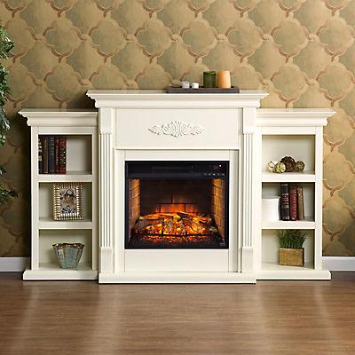 SEI Newport Electric Fireplace - Ivory