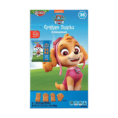 Keebler PAW Patrol, Graham Snacks, Cinnamon, 36 ct./1.06 oz.