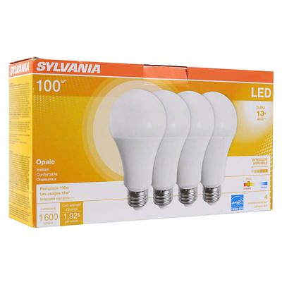 Sylvania 60W Equivalent LED A19 Light Bulb, 4 pk. - Daylight