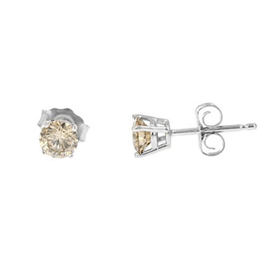 .50 ct. t.w. Champagne Diamond Studs in 14k White Gold