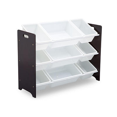 Delta Children MySize 9-Bin Toy Organizer - Dark Chocolate