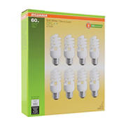 Sylvania 60W Equivalent Compact Fluorescent Mini CLF Bulbs, 8 pk. - Soft White