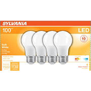 Sylvania 100W Equivalent LED A19 Light Bulbs, 4 pk. - Soft White