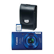 Canon PowerShot ELPH 190 IS 20MP 10x Zoom Wi-Fi Camera with 8GB Memory Card and Case - Blue