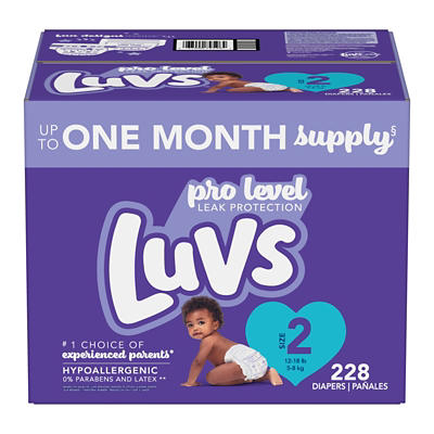 Luvs Ultra Leak guards Diapers, Size 2, 228 ct.