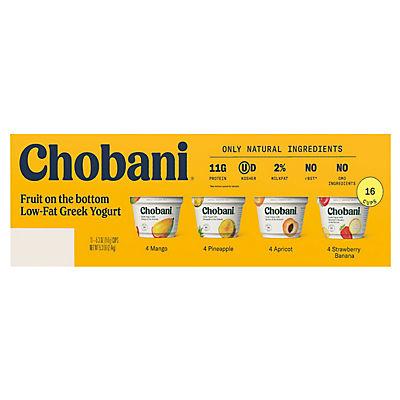 Chobani Fruit on the Bottom Low-Fat Greek Yogurt, 16 ct./5.3 oz.