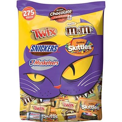 Mars Chocolate Favorites Halloween Candy Bars Variety Bag, 275 ct.