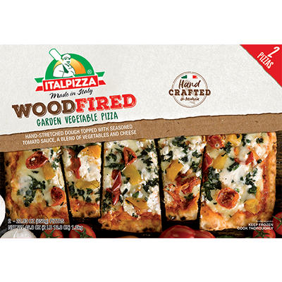 Italpizza Wood Fired Garden Vegetable Pizza, 2 ct./22.93 oz.