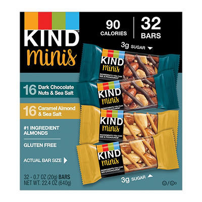 Kind Snacks Minis Variety Pack, 32 ct./0.7 oz.