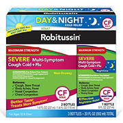 Robitussin CF Max Severe Multi-Symptom Cough Cold and Flu Day and Night, 20 oz.