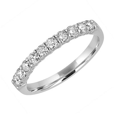 Amairah .50 ct. t.w. Diamond Wedding Band in 14k White Gold