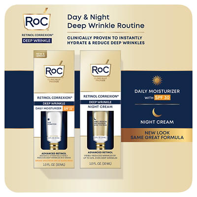 Roc Retinol Correxion Deep Wrinkle Treatment Daily Moisturizer With Su